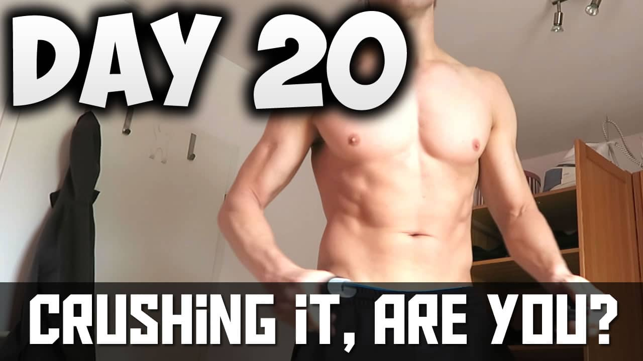 [Day20] – 30 DAY FITNESS CHALLENGE… I'M CRUSHING IT, ARE YOU?